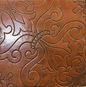 Tooled & Embossed Terracotta | Ken Mason Tile | Los Angeles